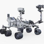 Mars Curiosity Rover (animowany) 3d model
