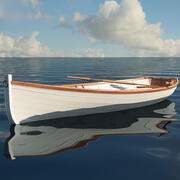 Rowing Boat 3d model
