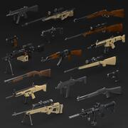 WEAPONS PACKモデルとテクスチャ 3d model