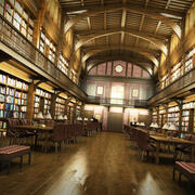 Historical Library 3d model