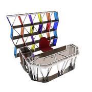 办公桌和架子 3d model