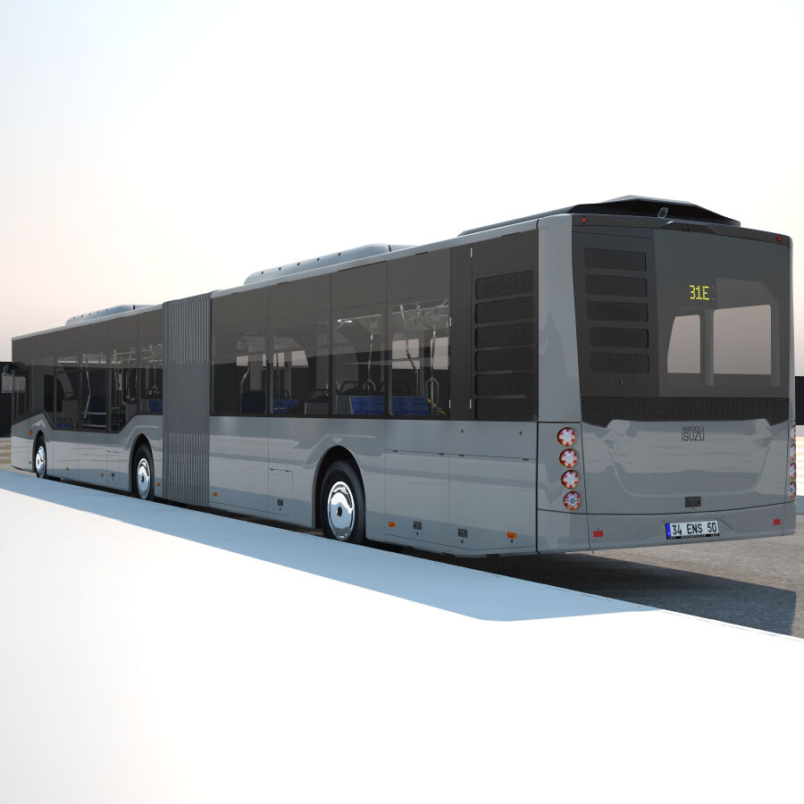 Isuzu Citiport 18 royalty-free 3d model - Preview no. 6