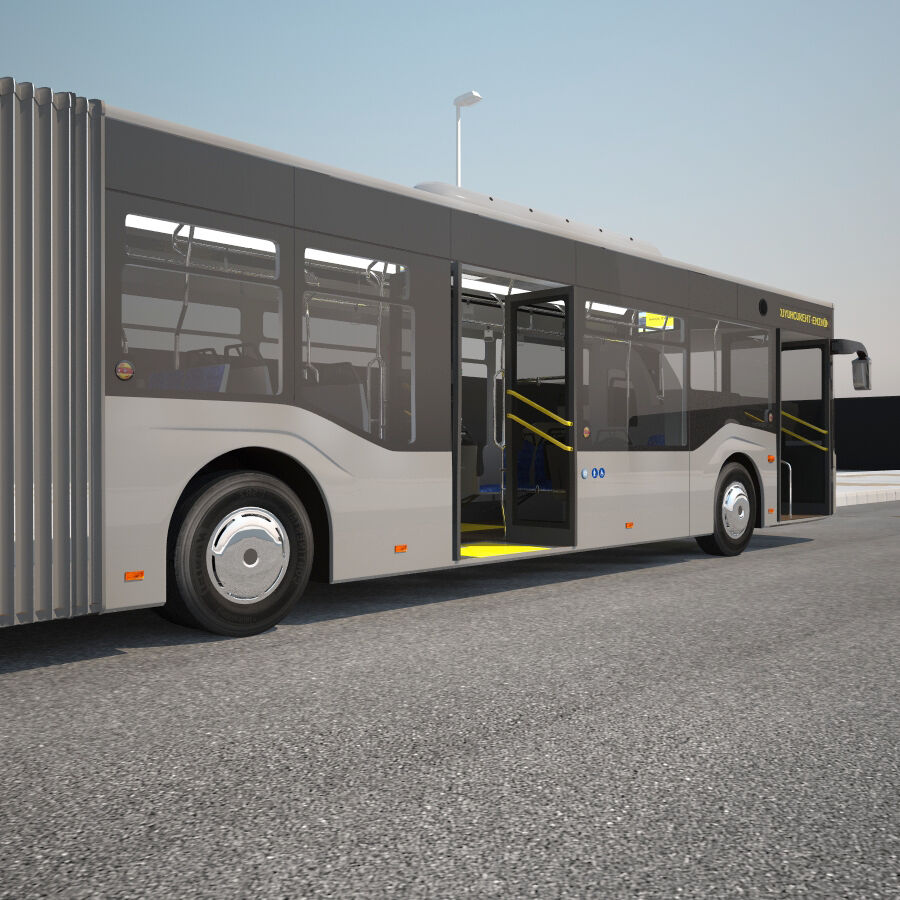 Isuzu Citiport 18 royalty-free 3d model - Preview no. 11