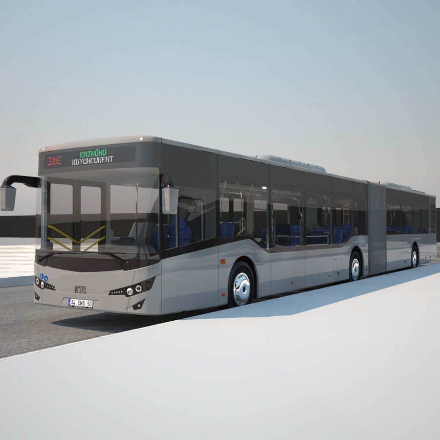 Isuzu Citiport 18 royalty-free 3d model - Preview no. 8