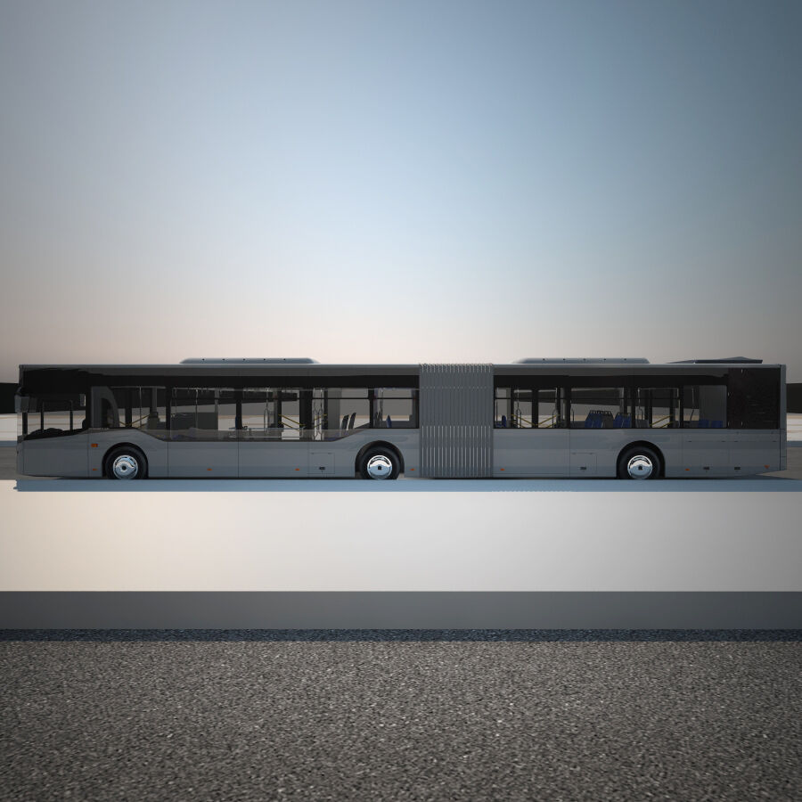 Isuzu Citiport 18 royalty-free 3d model - Preview no. 7