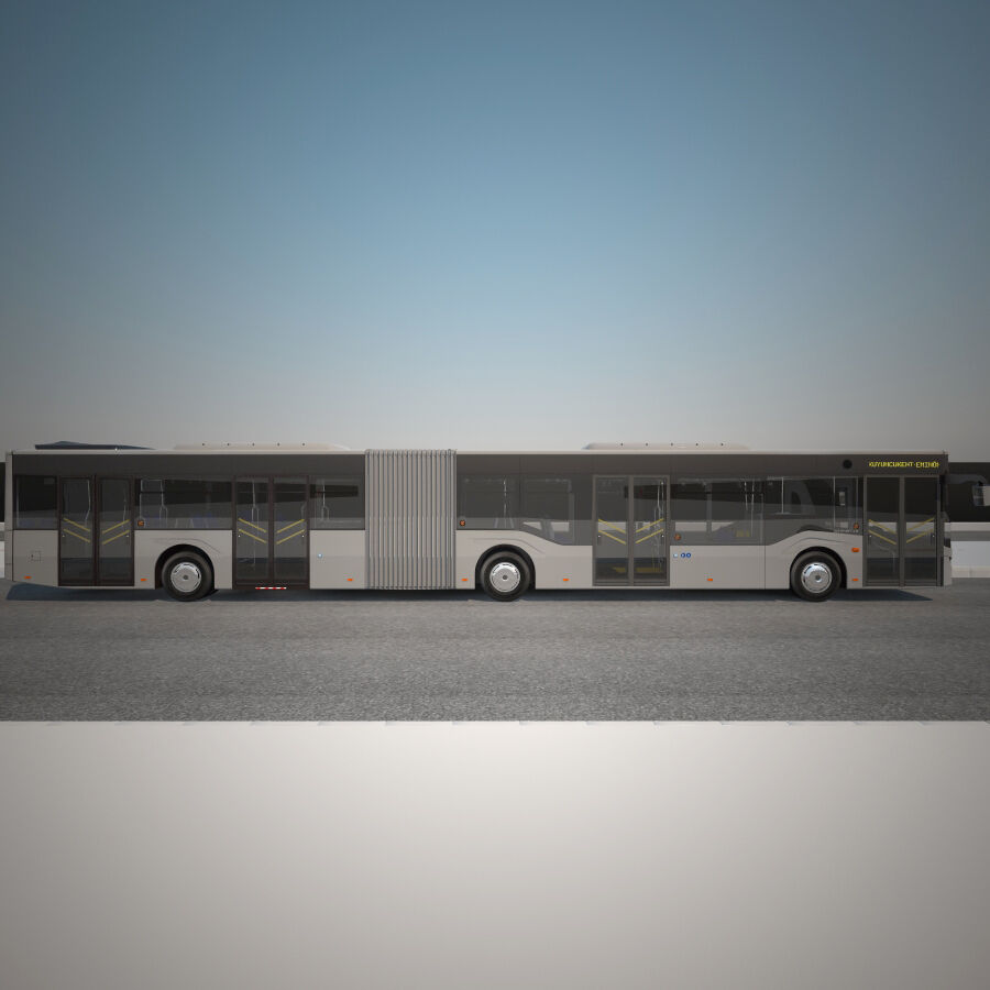 Isuzu Citiport 18 royalty-free 3d model - Preview no. 3