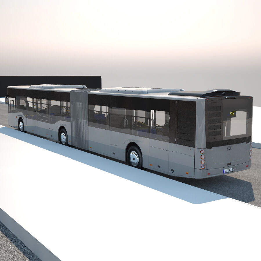 Isuzu Citiport 18 royalty-free 3d model - Preview no. 12