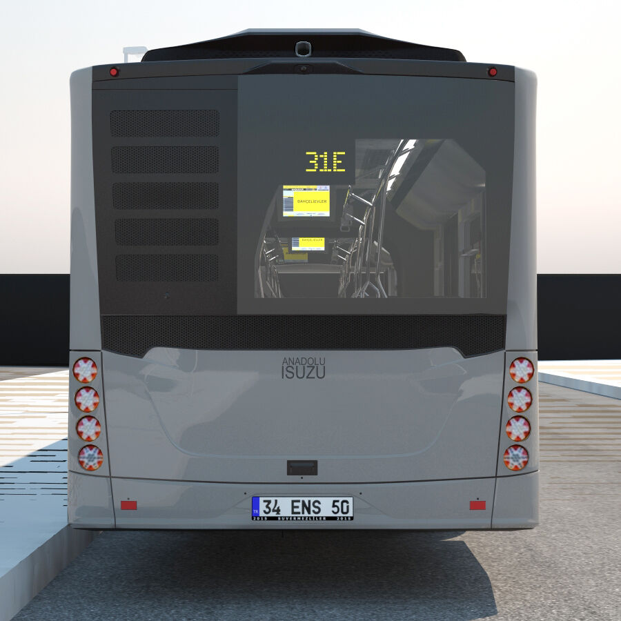 Isuzu Citiport 18 royalty-free 3d model - Preview no. 5