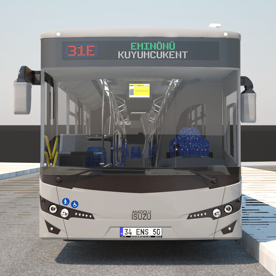 Isuzu Citiport 18 royalty-free 3d model - Preview no. 9