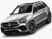 Линия Mercedes GLE 2020 AMG 3d model