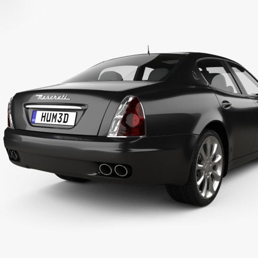 マセラティクアトロポルテ2004 royalty-free 3d model - Preview no. 7