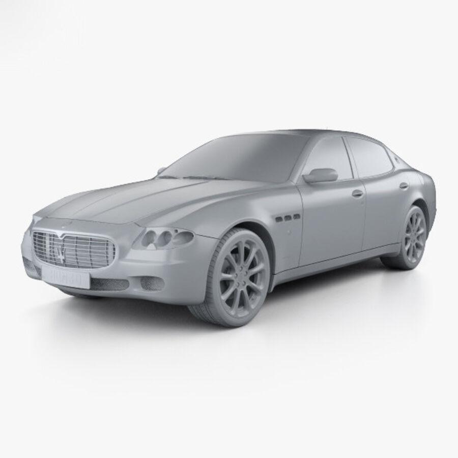 マセラティクアトロポルテ2004 royalty-free 3d model - Preview no. 11