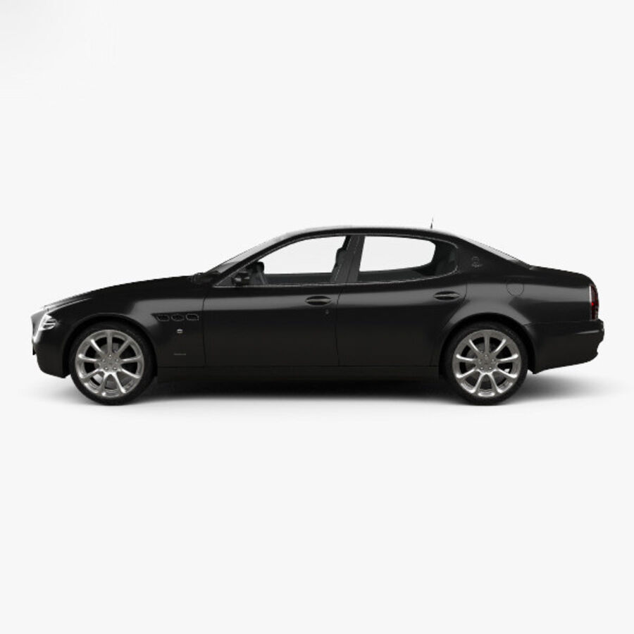 マセラティクアトロポルテ2004 royalty-free 3d model - Preview no. 5