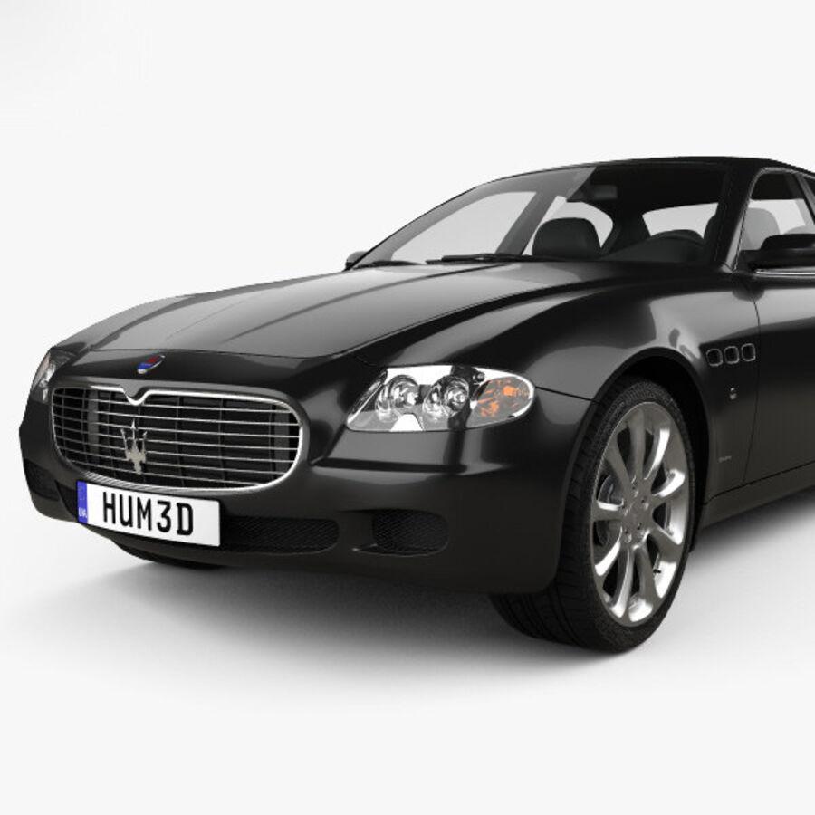 マセラティクアトロポルテ2004 royalty-free 3d model - Preview no. 6