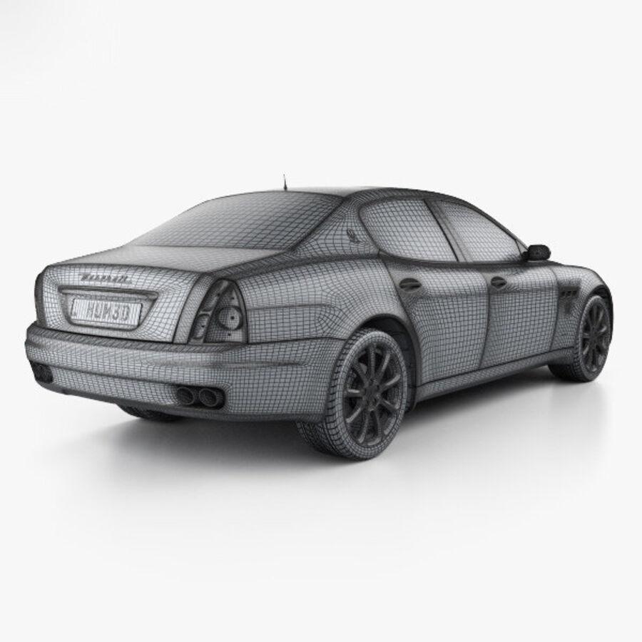 マセラティクアトロポルテ2004 royalty-free 3d model - Preview no. 4