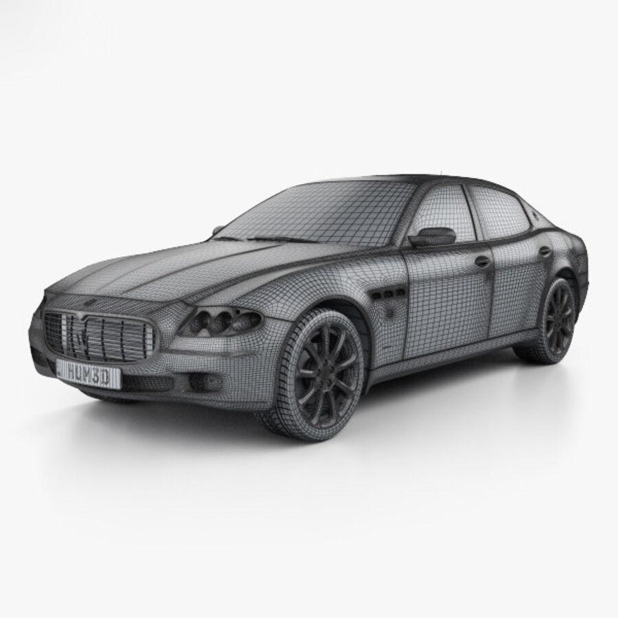 マセラティクアトロポルテ2004 royalty-free 3d model - Preview no. 3