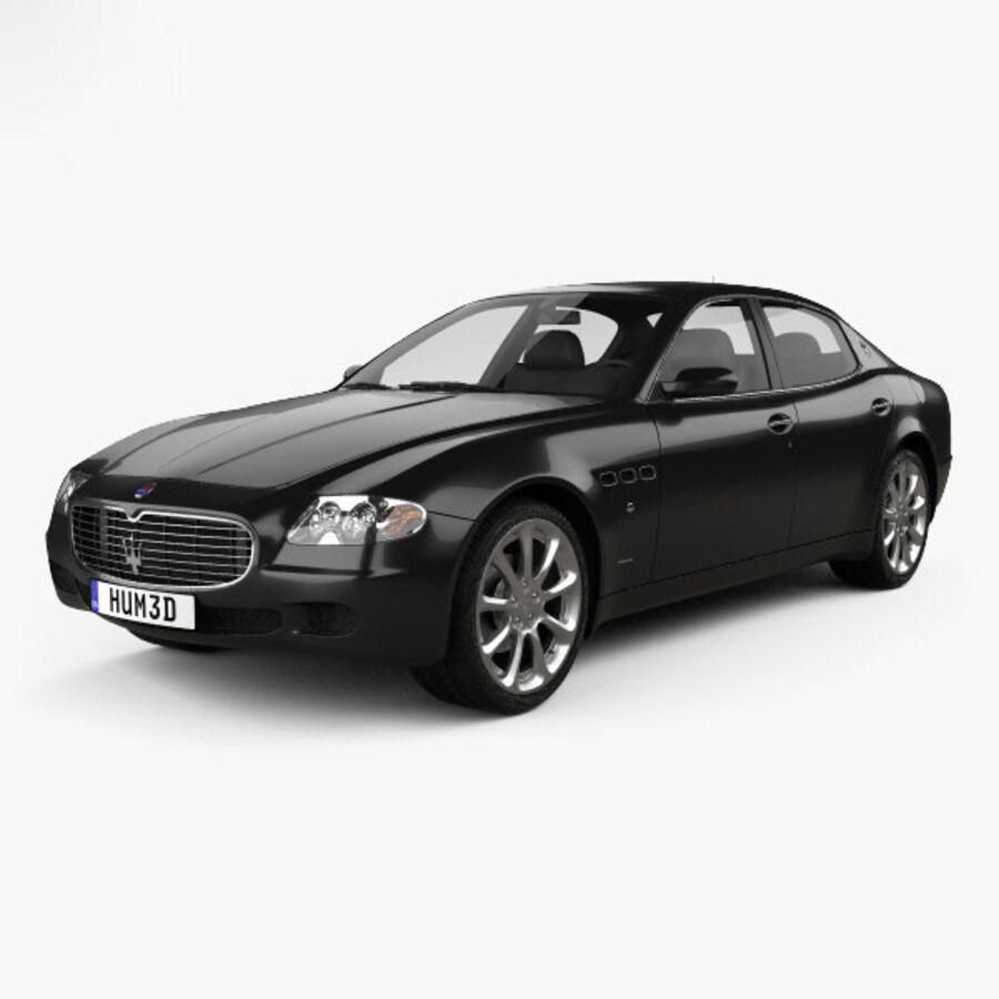 マセラティクアトロポルテ2004 royalty-free 3d model - Preview no. 1