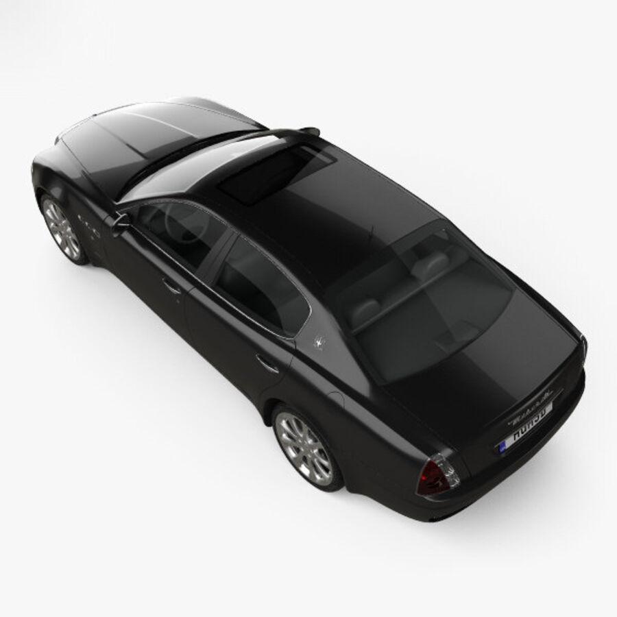 マセラティクアトロポルテ2004 royalty-free 3d model - Preview no. 9