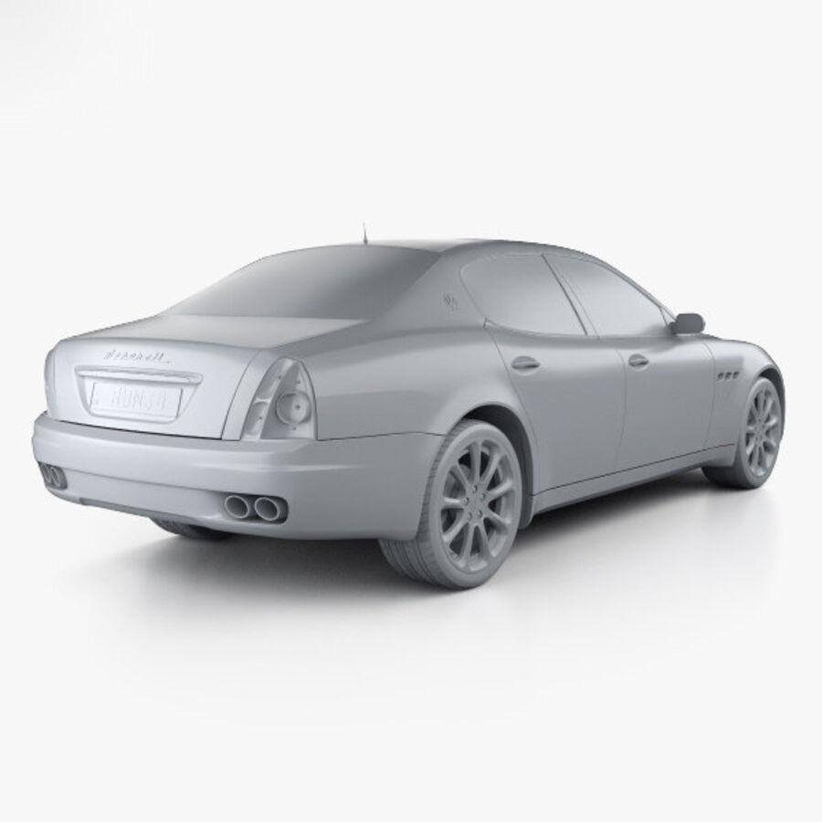 マセラティクアトロポルテ2004 royalty-free 3d model - Preview no. 12