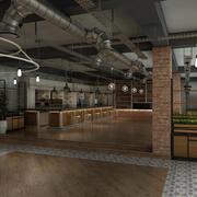 레스토랑 카페 인테리어 3d model