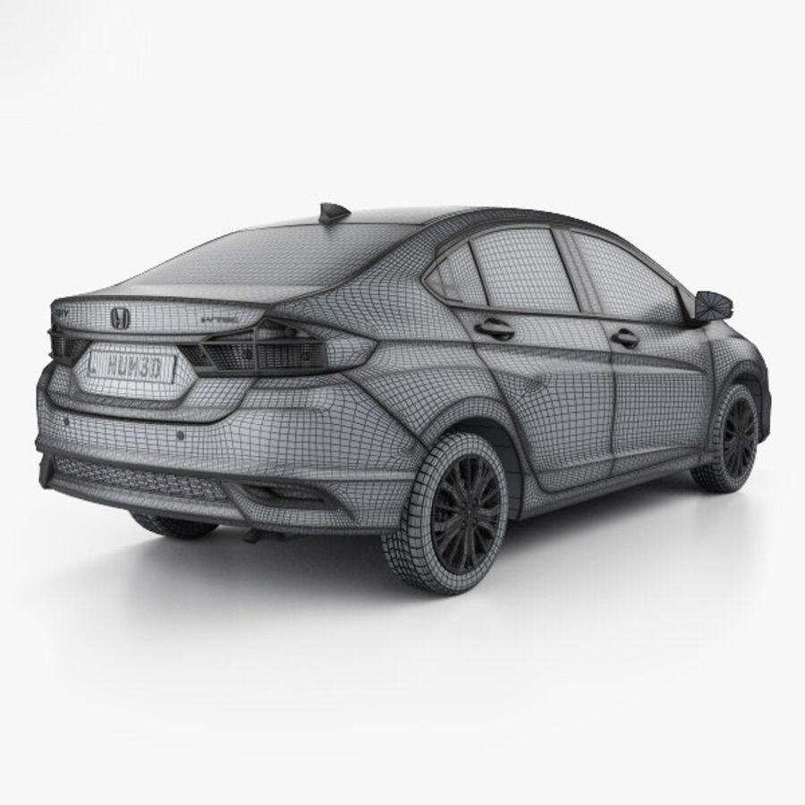 Honda City 2017 royalty-free 3d model - Preview no. 4