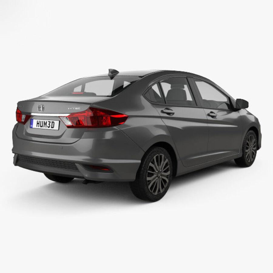 Honda City 2017 royalty-free 3d model - Preview no. 2