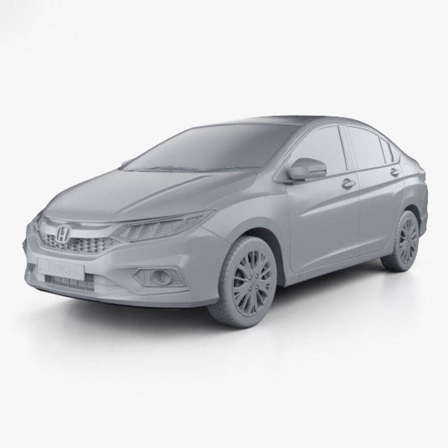 Honda City 2017 royalty-free 3d model - Preview no. 11