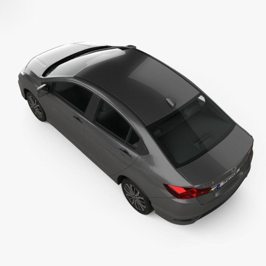 Honda City 2017 royalty-free 3d model - Preview no. 9