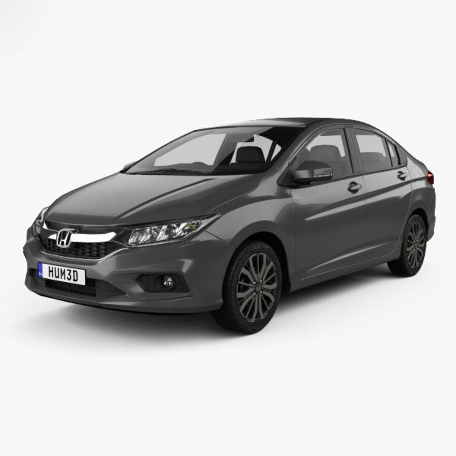 Honda City 2017 royalty-free 3d model - Preview no. 1
