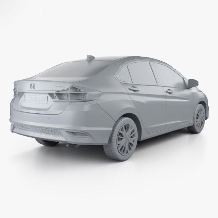 Honda City 2017 royalty-free 3d model - Preview no. 12