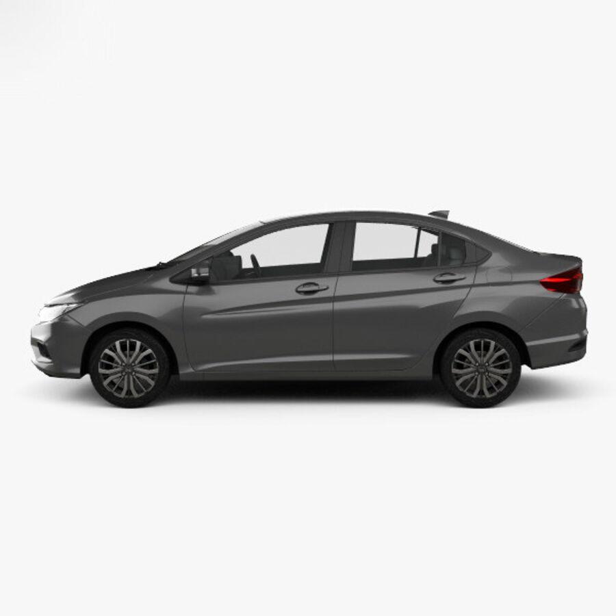 Honda City 2017 royalty-free 3d model - Preview no. 5