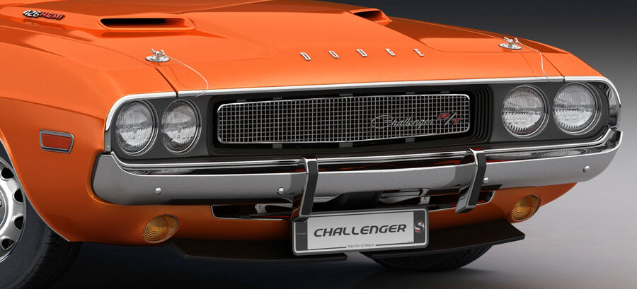 Dodge Challenger 1970 royalty-free 3d model - Preview no. 18