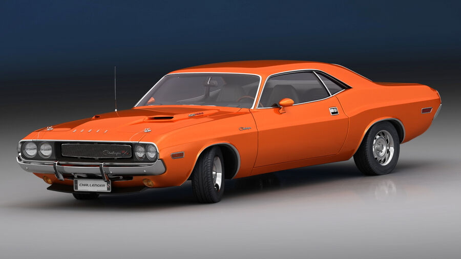 Dodge Challenger 1970 royalty-free 3d model - Preview no. 2