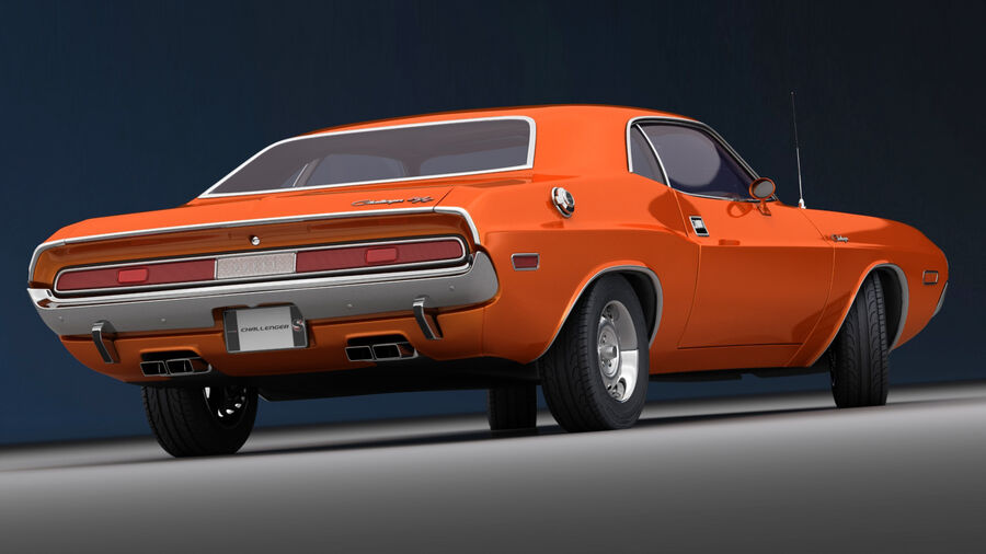 Dodge Challenger 1970 royalty-free 3d model - Preview no. 9