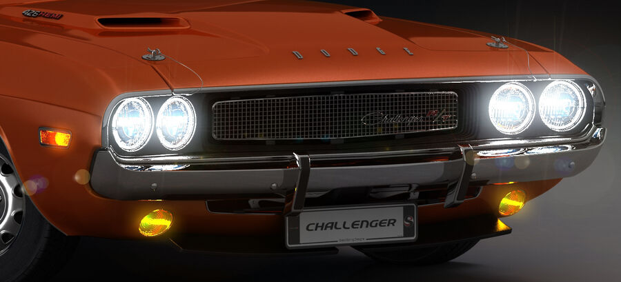 Dodge Challenger 1970 royalty-free 3d model - Preview no. 19