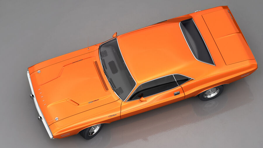 Dodge Challenger 1970 royalty-free 3d model - Preview no. 4