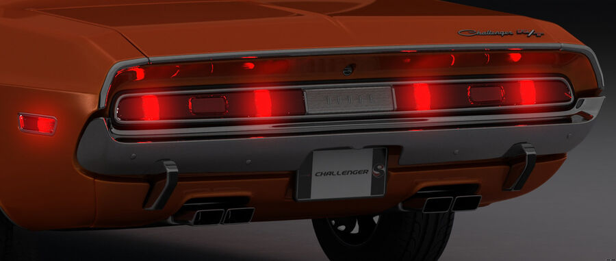 Dodge Challenger 1970 royalty-free 3d model - Preview no. 22