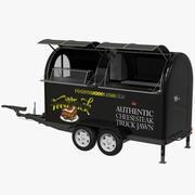 Black Food Truck v2 3d model