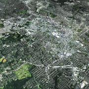 Atlanta mit Gelände 3d model