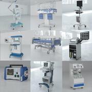 9 in 1 Medical Equipment Pack 3d model