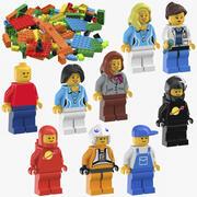 Coleção Lego 3d model