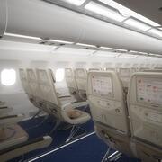 Flygplansinteriör Economy Class 3d model