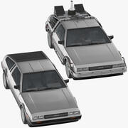 DeLorean Standard and Back to The Future 3d model
