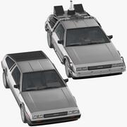 DeLorean标准和回到未来 3d model