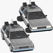 DeLorean Regreso al futuro Conducir y volar modelo 3d