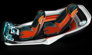 Futuristic flying car interior 3d model