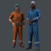 Travailleur offshore en temps réel 3d model