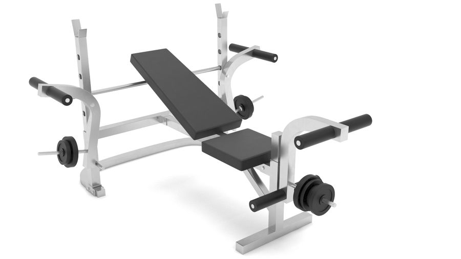 équipement de gym royalty-free 3d model - Preview no. 11