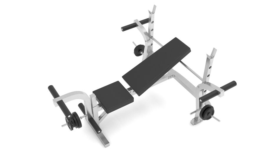 equipo de gimnasio royalty-free modelo 3d - Preview no. 2