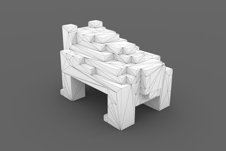 Creature 001 royalty-free 3d model - Preview no. 10
